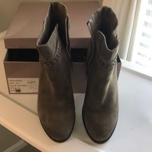 Gently used Bakers Taupe suede Booties Sz 7